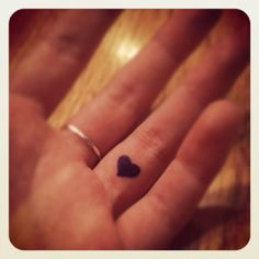 Heart on the left hand ring finger. My next tattoo.