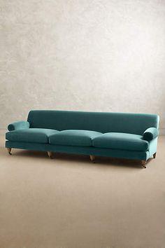 Velvet Willoughby Grand Sofa, Wilcox - anthropologie.com