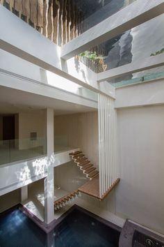 Interior shot of a house featuring a shape-shifting facade.