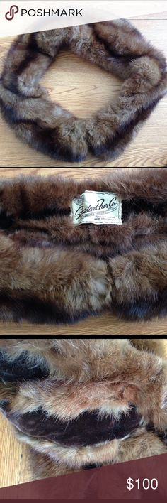 Vintage mink stole Gorgeous vintage mink stole, beautiful silky pelts. Made in NOLA , by standard fur co. Has the initials BES embroidered on the velvet on the inside. Wraps around the shoulders and secures with hook and eye closure. Vintage Accessories Scarves & Wraps