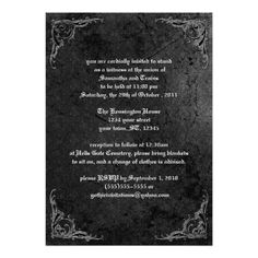 Shop Grunge Rose Damask Gothic Invitation created by gothicbusiness. Gothic Wedding Invitations, Damask Wedding, Elegant Invitations, Custom Invitations, Invitation Cards, Quince Invitations, Holiday Invitations, Birthday Party Invitations, Envelope Liners