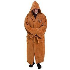 Star Wars - Mens Star Wars - Jedi Cotton Bathrobe Brown @ niftywarehouse.com #NiftyWarehouse #Geek #Products #StarWars #Movies #Film