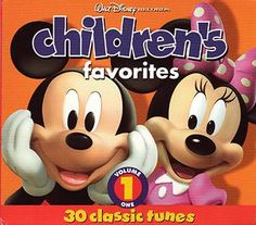 Children's Favorites, Volume 1 Full length CD with 30 classic Disney favorites performed by various artists Released in 2008 Produced by Walt Disney Records Music For Kids, Kids Songs, Children Music, Family Songs, Baby Songs, Ten Little Indians, Three Blind Mice, Pop Goes The Weasel, Walt Disney Records
