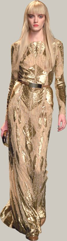 #ELIE SAAB - Ready-to-Wear - Fall Winter 2012-2013 #Trend Metallics