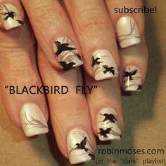 black bird nail art flying nails. http://www.youtube.com/watch?v=STxjVYq2-HA