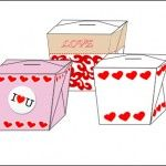 Free printable Valentines paper Craft Candy Treat Boxes Template