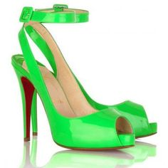 Cheap Christian Louboutin Privatita Platform Slingbacks Green on sale - $119.66