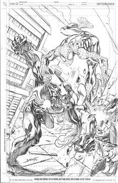 Mark Bagley Spider-man vs. Venom commission