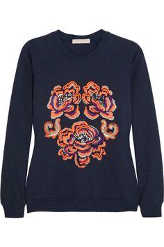 Matthew Williamson|Embroidered cotton sweatshirt|NET-A-PORTER.COM