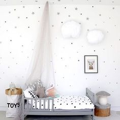 Little Stars Wall Stickers Kids Room Decal Baby Nursery Art Home Decoration Kit Baby Bedroom, Girls Bedroom, Childs Bedroom, Kid Bedrooms, Deco Kids, Diy Canopy, Princess Room, Kids Room Design, Little Girl Rooms