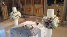 Γάμος στην Φανερωμένη Βουλιαγμένης #lesfleuristes #λουλούδια #ανθοσύνθεση #ανθοπωλείο #γλυφάδα #γάμος #νύφη #εκκλησία Table Decorations, Furniture, Home Decor, Decoration Home, Room Decor, Home Furnishings, Arredamento, Dinner Table Decorations, Interior Decorating