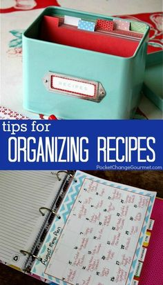 Stop searching for the recipe you need! Our Tips for Organzing Recipes will help! Pin to your Organizing Board!