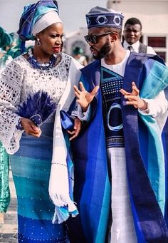 Matching attire for this traditional bride and groom.