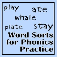 Word Sorts for Phonics Practice