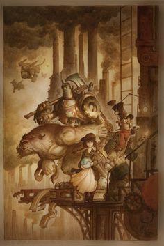 """Steampunk Wizard of Oz"" by Justin Gerard"