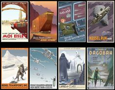 These vintage travel posters.