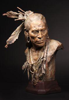 ~ Gallery of Work 1832 Arikara Chief ~ colemanstudios.com