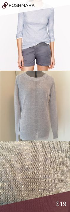 JCrew sparkle crewneck sweater This is a very sheer sweater! It has beautiful sparkles on it so it can be worn to a fancy soirée or just dress up a pair of jeans. J. Crew Sweaters Crew & Scoop Necks