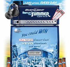 Bud Light Amplify Your Summer Instant Win Game on http://www.icravefreebies.com