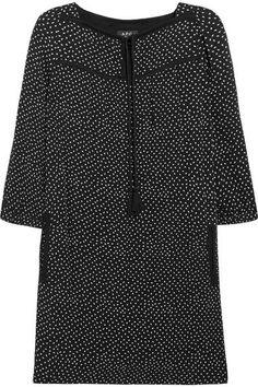 A.P.C. Atelier de Production et de Création - Embroidered Polka-dot Crepon Mini Dress - Black - FR38