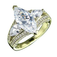 Millionaire Marquis Gold Ring $159