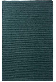 Solid Emerald Green Flatweave Eco Cotton Rug_032