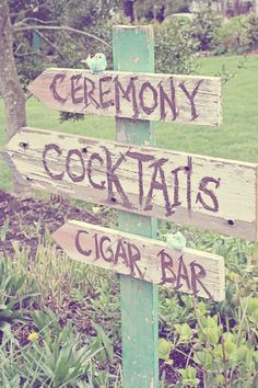 help direct wedding guests with these super cute vintage signs http://www.primroseandcompany.com/
