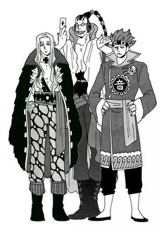 One Piece, Scratchmen Apoo, Kid, Hawkins kid can wear Apoo´s clothes better than he himself.
