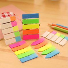 1 Stück Sticky Post Filofax Notizblöcke Bürobedarf Schule Scratch Briefpapier Regenbogen Fluoreszenz Index Notizblock Notizen