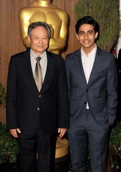 Ang Lee and Suraj Sharma (Life of Pi) at the Oscar nominee luncheon