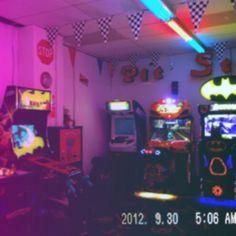 I wasted so much of my life. Vaporwave, Arcade, Ibuki Mioda, Cyberpunk, Neon Aesthetic, Aesthetic Space, Neon Nights, Indie, Neon Lighting
