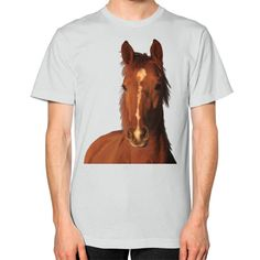 Equestrian Apparel - Horse Head - Unisex T-Shirt (on man)