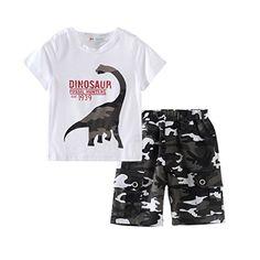 3877a8f5501 Amazon.com  Mud Kingdom Little Boys  Camo Shorts Sets  Clothing