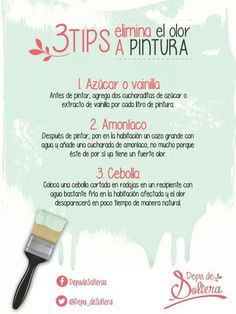 #Tips que le serán de ayuda para eliminar el olor a #pintura. #Hogaressauce.