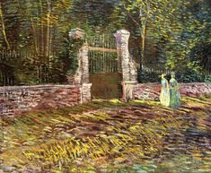 Entrance to the Park at Voyer-d'Argenson in Asnieres Vincent van Gogh - 1887