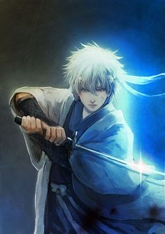 Amazing fan art of Gintoki.
