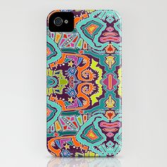 ikat doodle iPhone Case
