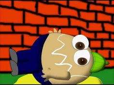 Humpty Dumpty rocks viewers and himself (off the wall)