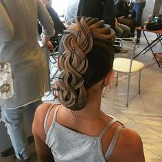 Hairstyle by me # ballroom # stsr # rts # ftsspb # hairstyles for dancing # balneans # da Dance Hairstyles, Elegant Hairstyles, Braided Hairstyles, Cool Hairstyles, Ballroom Dance Hair, Long Hair Designs, Competition Hair, Hair Up Styles, Multicolored Hair
