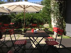 The patio is charming