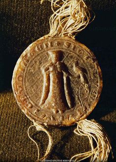 Wax seal, Helwig von Ysenburg with falcon, 1274 High Middle Ages, Medieval Life, European History, Wax Seals, Art Of Living, Prehistoric, Coins, Olympic Medals, Sealing Wax