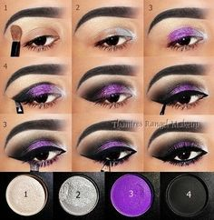 20 Fashionable Smoky Purple Eye Makeup Tutorials for All Occasions Halloween makeup? The post 20 Fashionable Smoky Purple Eye Makeup Tutorials for All Occasions appeared first on Do It Yourself Fashion. Purple Smokey Eye, Purple Eye Makeup, Purple Eyeshadow, Skin Makeup, Mac Eyeshadow, Lipstick Mac, Black Smokey, Eyeshadow Palette, Eyeshadow Ideas