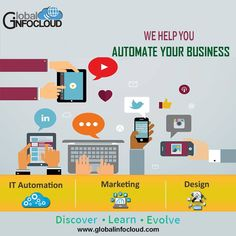 Global infocloud is the software company in pune. Global Infocloud helps you to automatate your business with minimum manual intervention and ease your business. Marketing techniques are result driven which focuses on generating growth and revenue for your businesses, Automate and grow your business with us #onlineadvertising #digitaladvertising #automate #businessautomation #digitalmarketing #agency #pune #globalinfocloud Best Digital Marketing Company, Marketing Techniques, Online Advertising, Growing Your Business, Pune, Business Marketing, Manual, Software, Clouds
