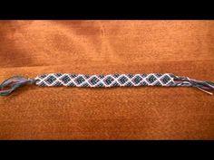 How to Make a Cross, X, or Diamond Pattern Friendship Bracelet - Similar to Chevron - YouTube