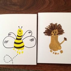 Bumble bee and lion foot prints