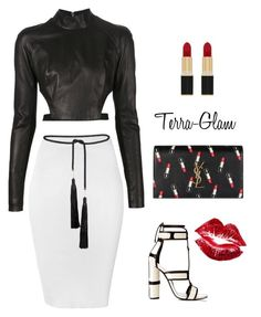 """""""Traces Of Lipstick"""" by terra-glam ❤ liked on Polyvore featuring Thierry Mugler, Glamorous, Yves Saint Laurent, Rosetta Getty and Manic Panic"""