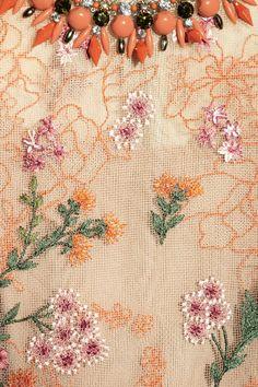 Biyan Ankskarina embroidered tulle dress NET-A-PORTER.COM