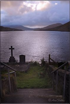 Leenane Graveyard - Galway, Ireland.  I would love to be buried facing the sea!