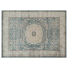 Check out this item at One Kings Lane! Levan Rug, Blue/Sand