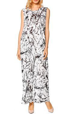 B&W Ink Maxi Dress by LeFuPeng via @bestmaxidress